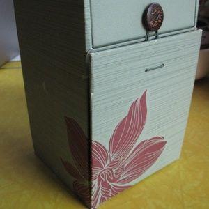 Other - Green Box w/ Slide Drawer, Swing Panel; Red Flower